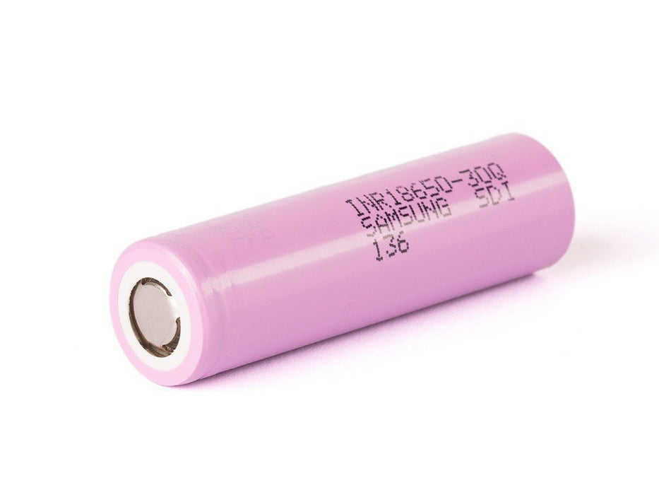 SAMSUNG INR18650-30Q BATTERY 15A 3000MAH - FLAT TOP - GENUINE AND TESTED Rechargeable Battery Samsung