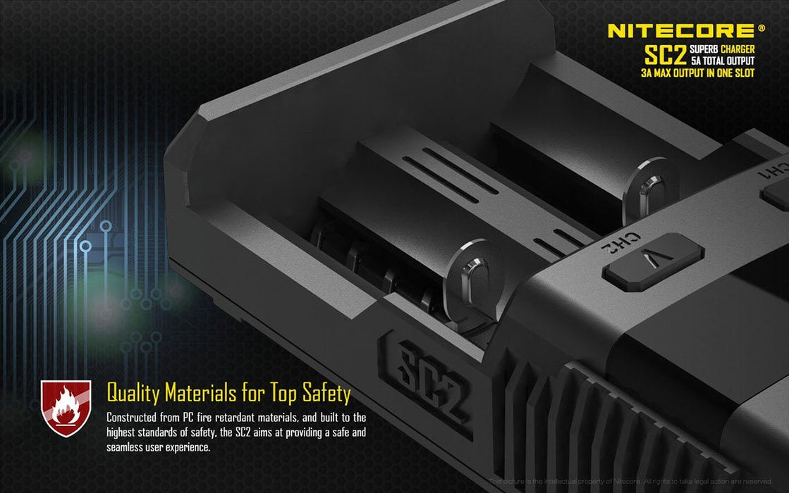 Nitecore SC2 2-Channel Charger Battery Charger Nitecore