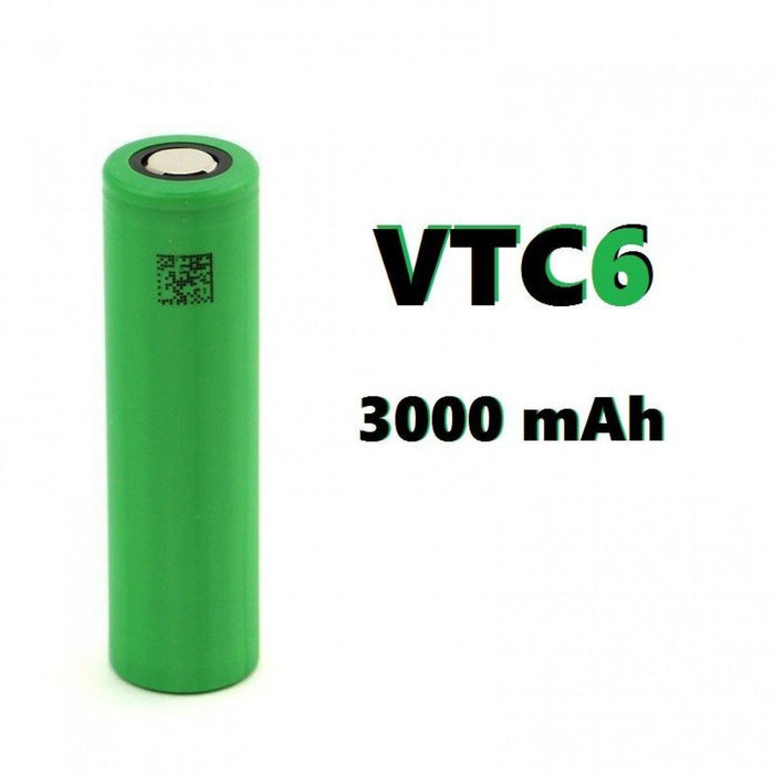 Sony - Murata VTC6 18650 3000MAH 15A-30A FLat Top Battery Rechargeable Battery Sony