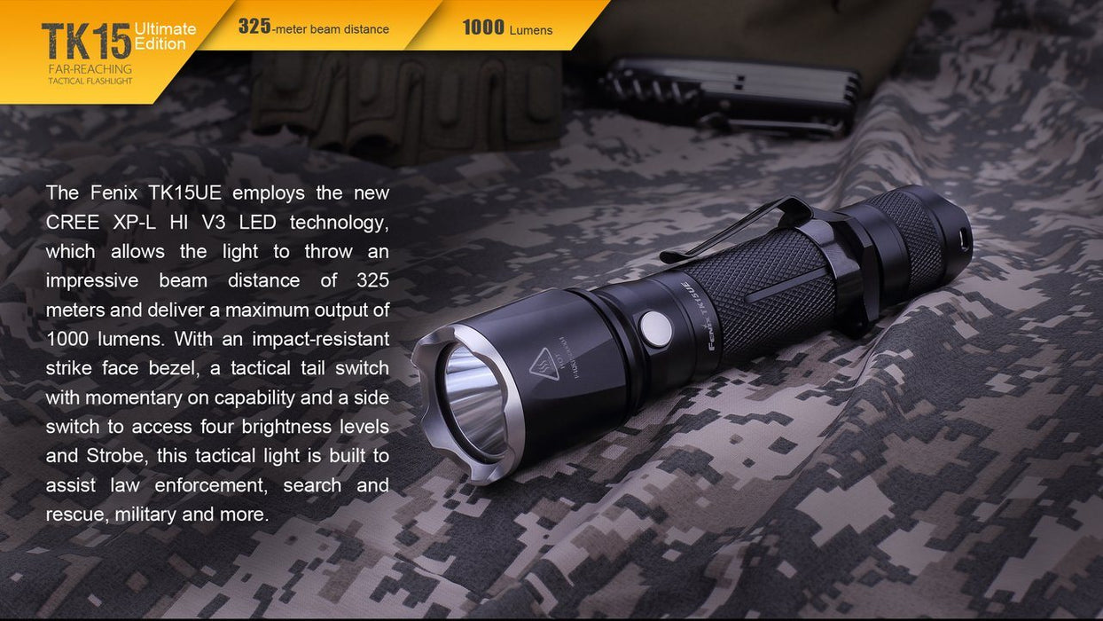 Fenix TK15 Ultimate Edition LED Flashlight