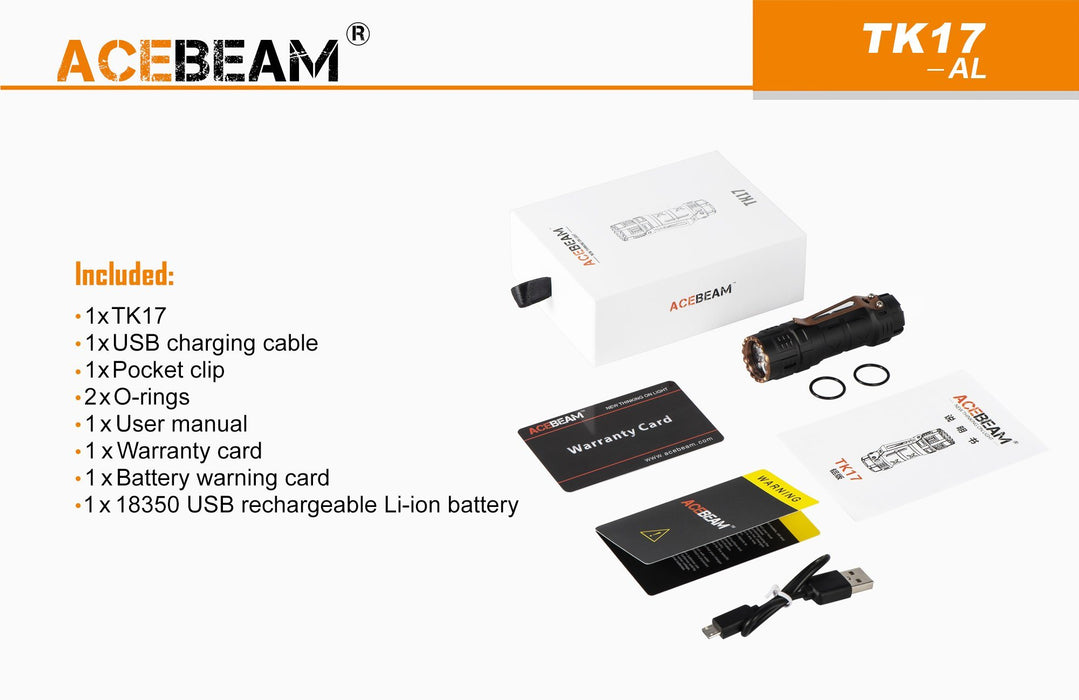 Acebeam TK17 AL LED Flashlight Flashlight Acebeam