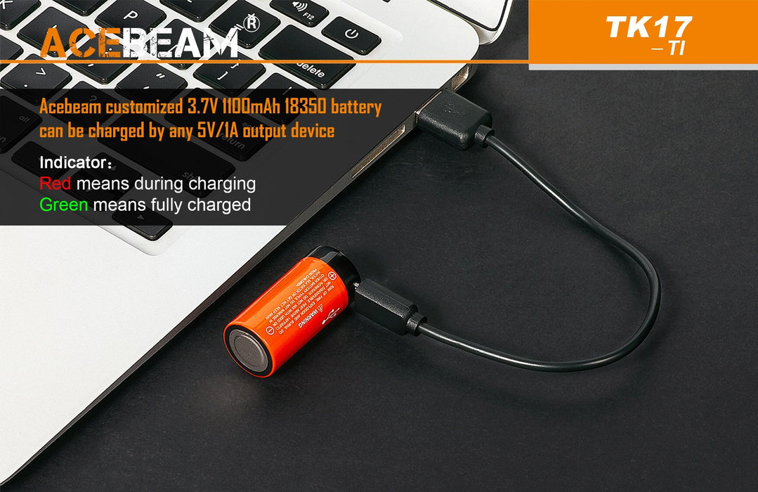 Acebeam TK17-TI EDC Limited Edition LED Flashlight Flashlight Acebeam