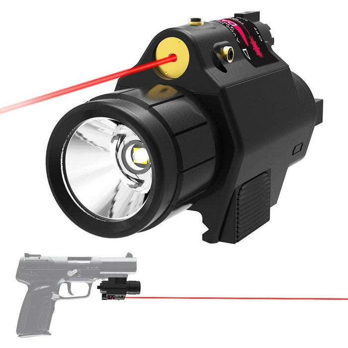 Tactical Weapon Light Laser Pointer LED Flashlight Combo