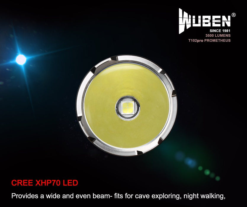 WUBEN T102Pro Prometheus 3500 Lumens LED Flashlight