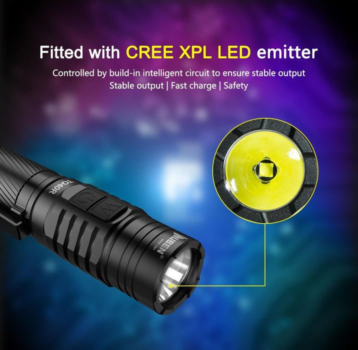 Wuben TO40R 1200 Lumens Rechargeable LED Flashlight