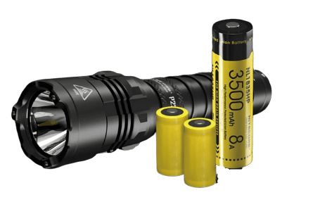 Nitecore P22R USB-C Rechargeable Strobe Ready LED Tactical Flashlight