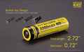 Nitecore NL1832 Rechargeable Battery
