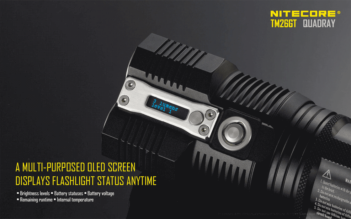 Nitecore TM26GT Monster LED Flashlight