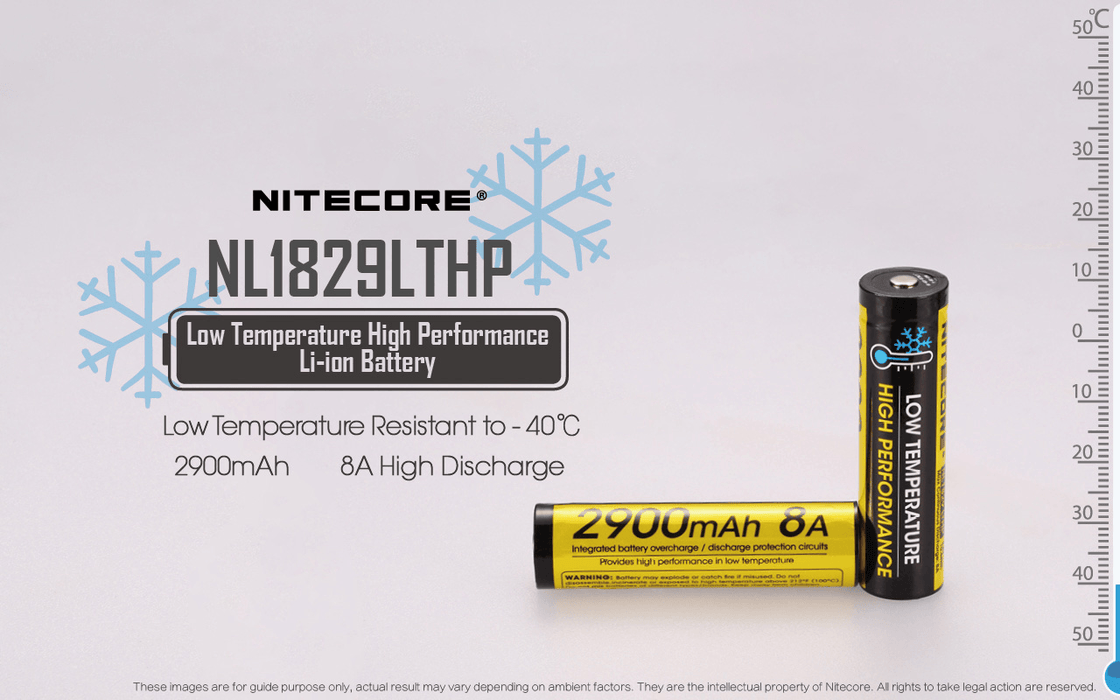NITECORE NL1829LTHP 2900MAH Low Temperature Resistant Rechargeable 18650 Battery