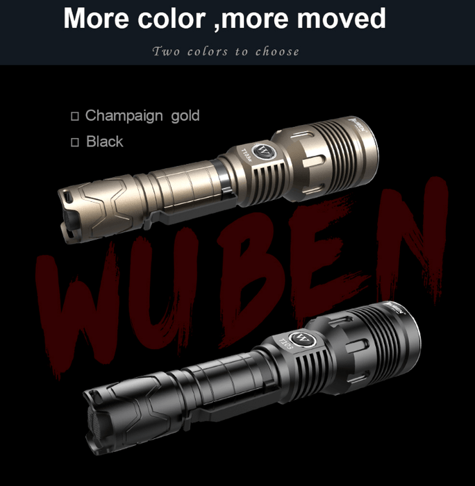 WUBEN T103W Pro 1280 Lumens LED Flashlight Flashlight Wuben