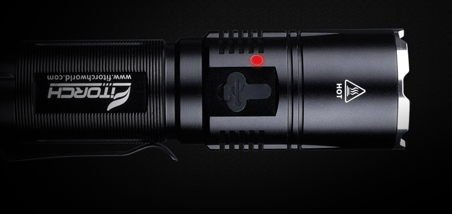 FITORCH MR20 LED 1800 Lumens USB Rechargeable Flashlight Flashlight FiTorch