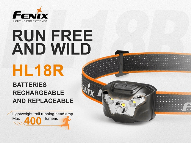 Fenix HL18R Tactical Ultralight Rechargeable Running LED Head lamp