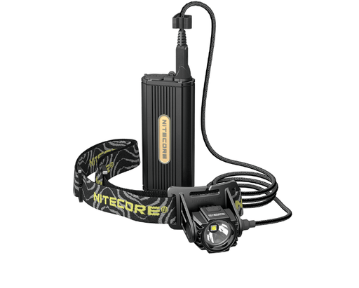 Nitecore HC70 1000 Lumen LED Headlamp With External Battery Case