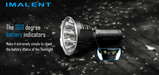 Imalent R90C LED Flashlight, Maximum Life Span