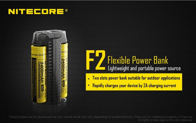 Nitecore F2 Flex Dual-Slot Power Bank Outdoor Charger Battery Charger Nitecore