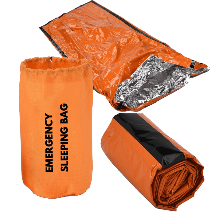 Emergency Sleeping Bag with Survival Whistle Tactical gear FlashLightWorld Canada