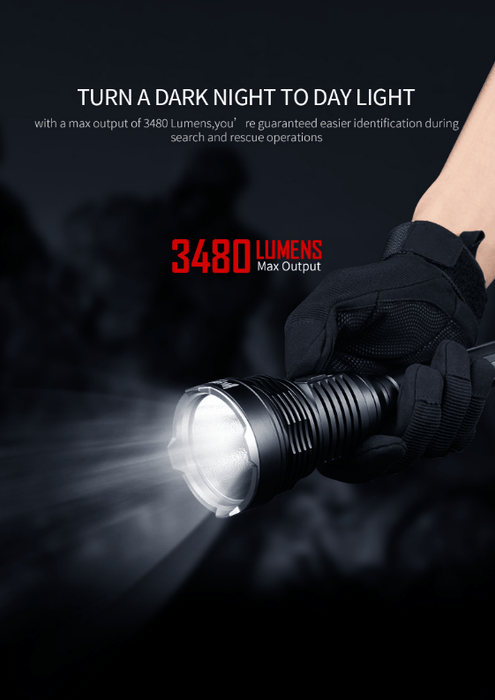 WUBEN T101 Pro Vulcan 3500 Lumens LED Flashlight Flashlight Wuben