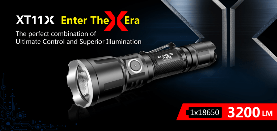 Klarus XT11X - 3200Lumens Tactical LED Flashlight