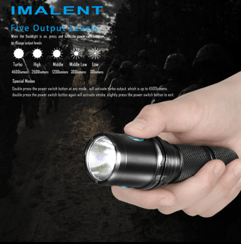Imalent DM70 Tactical LED Flashlight