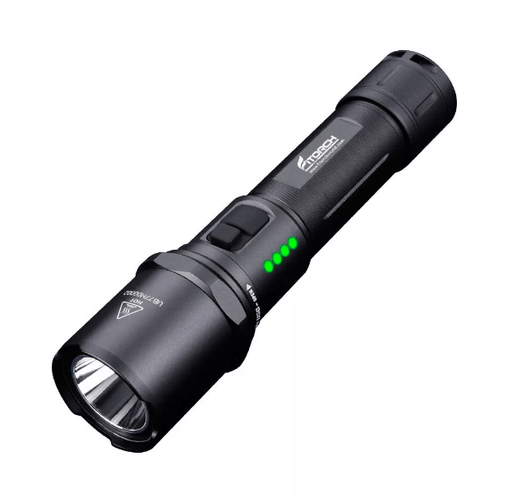 Fitorch MR15 Dual Switch USB Rechargeable Power Indicator LED Flashlight