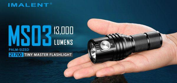 Imalent MS03 13000 Lumens Rechargeable LED Flashlight