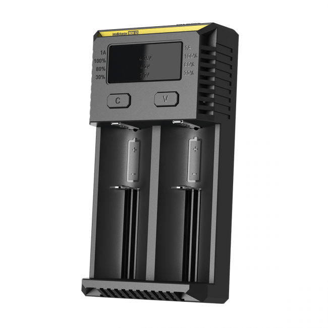 Nitecore New i2 Battery Charger with LED Display Charging Flashlight