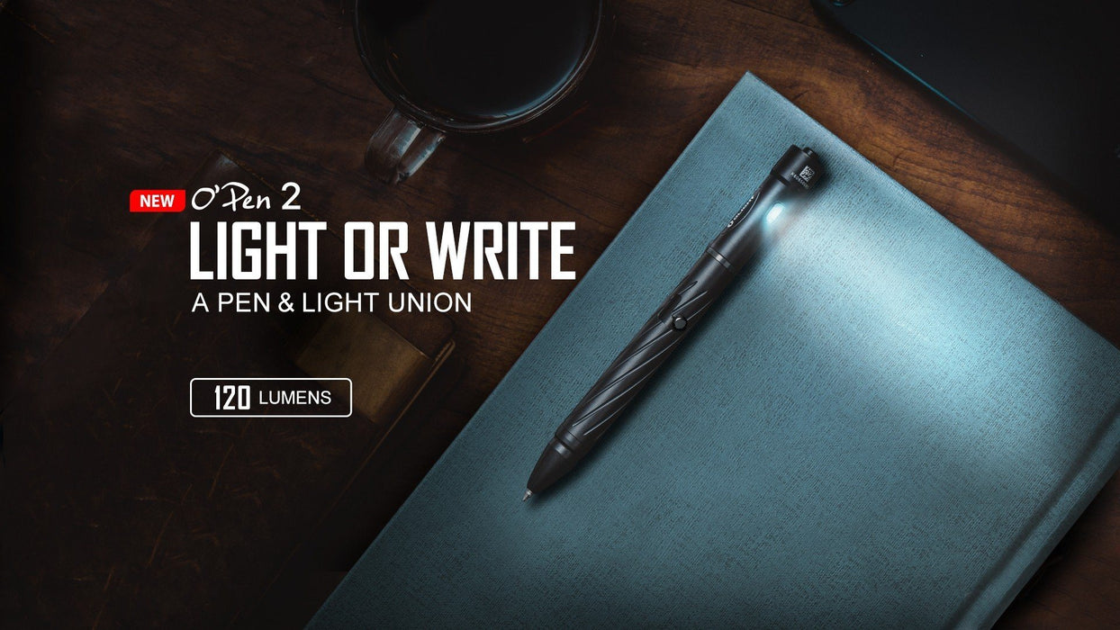 OLIGHT OPen 2 120 Lumen 2-in-1 USB Rechargeable Portable Pen With LED Flashlight