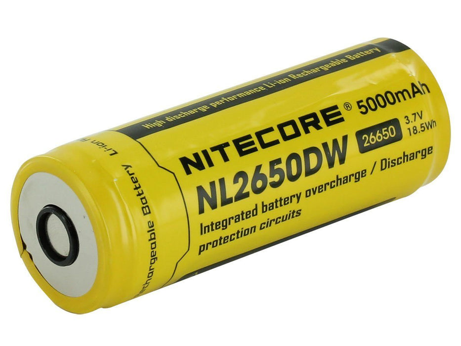 Nitecore NL2650DW 26650 5000mAh 3.7V Protected Lithium-Ion battery (for the Nitecore R40 flashlight)