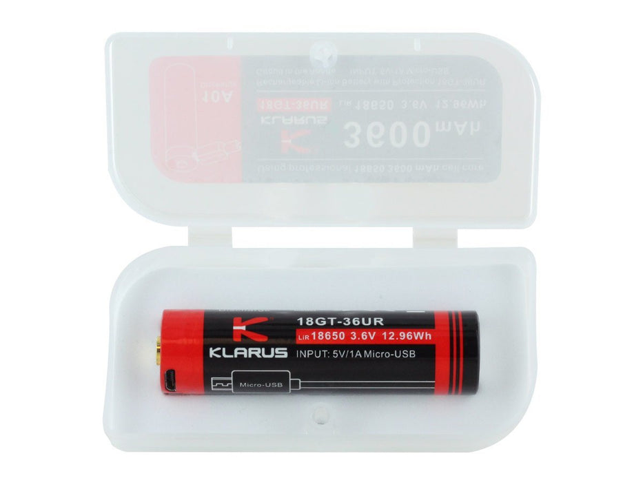 Klarus 18GT-36UR High Discharge 18650 3600mAh Li-ion Battery