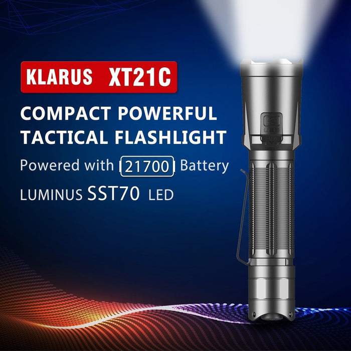 Klarus XT21C 3200 Lumens USB-C Rechargeable Tactical LED Torch