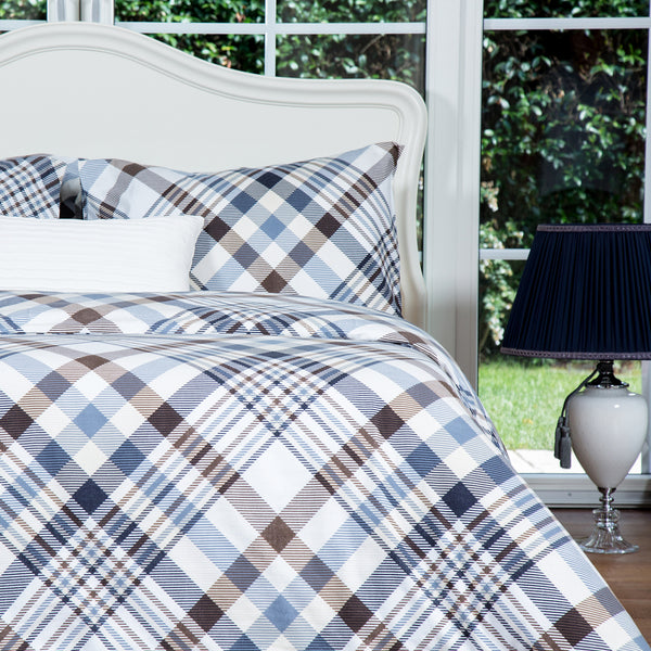 Marsala Home Beige Flannel Duvet Cover Set