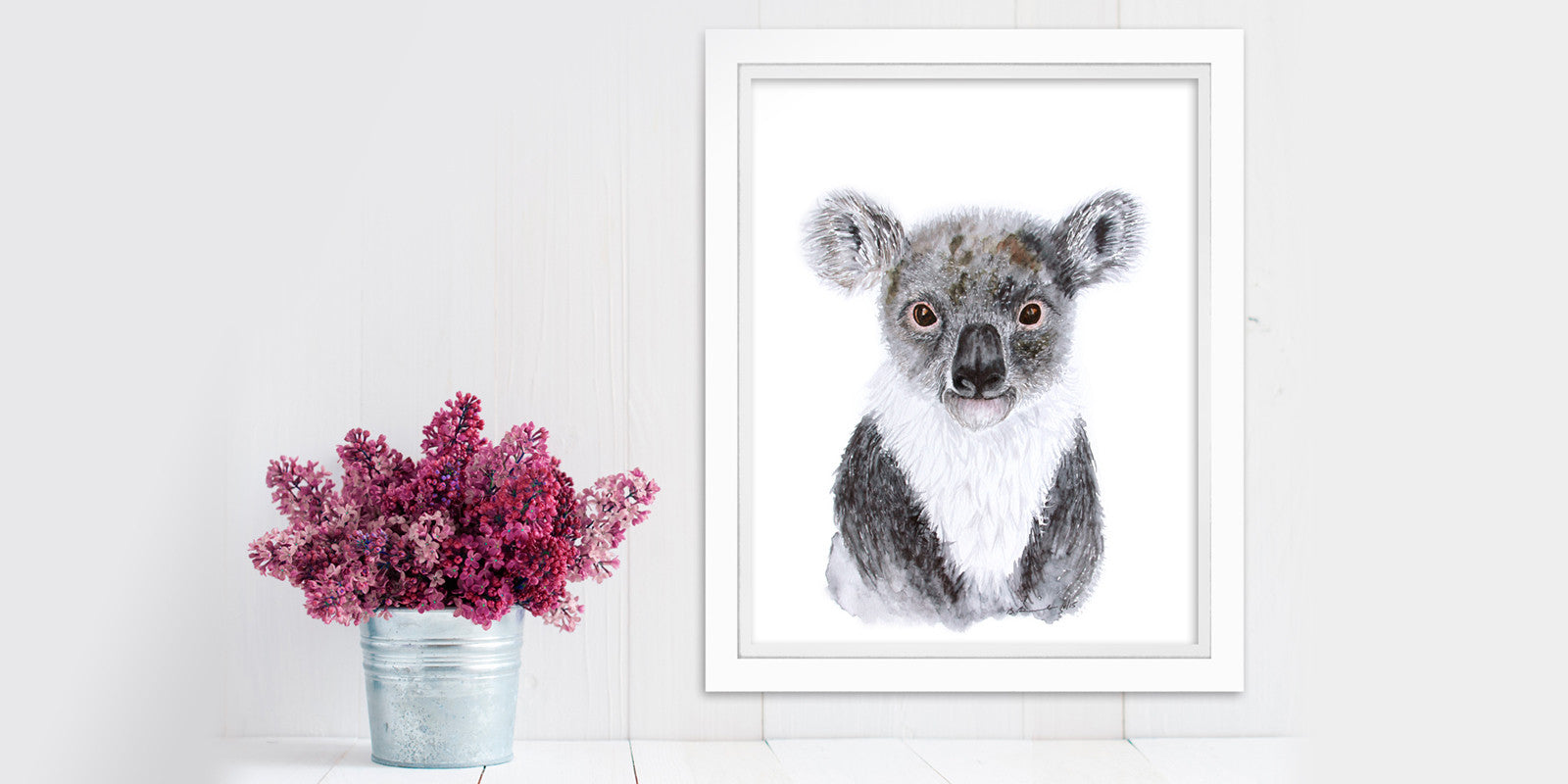 Australian Animal Portrait: Baby Koala Bear
