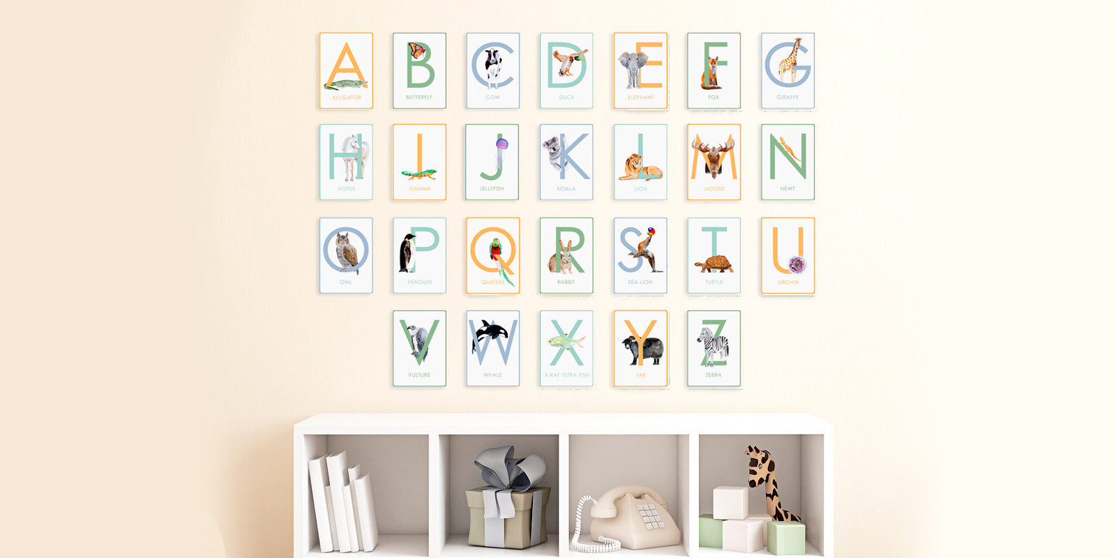 Animal Alphabet and Number Flash Cards
