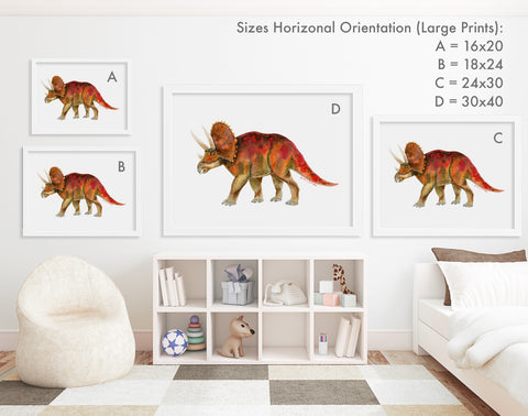 Print Sizes Horizontal Orientation - Large