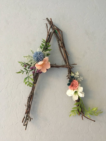 Woodland Twig Letters by Do Good Designs