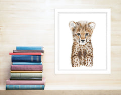 Framed Cheetah Animal Print
