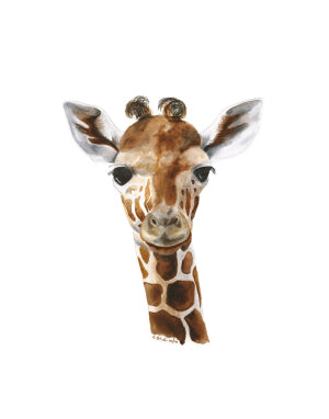 Portrait Baby Giraffe Animal Print