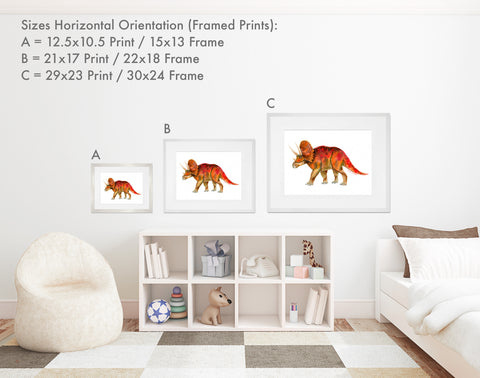 Framed Print Sizes - Horizontal Orientation