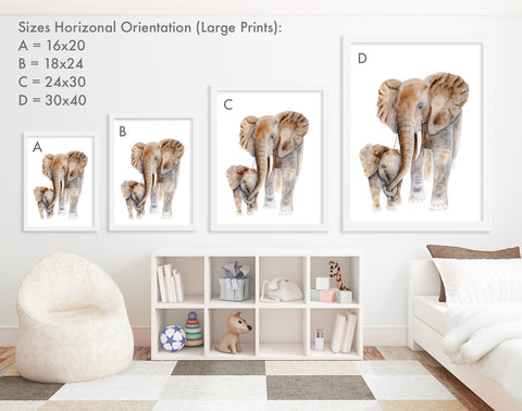 Print Sizes Vertical Orientation - Large