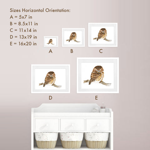 Print Sizes Horizontal Orientation - Small