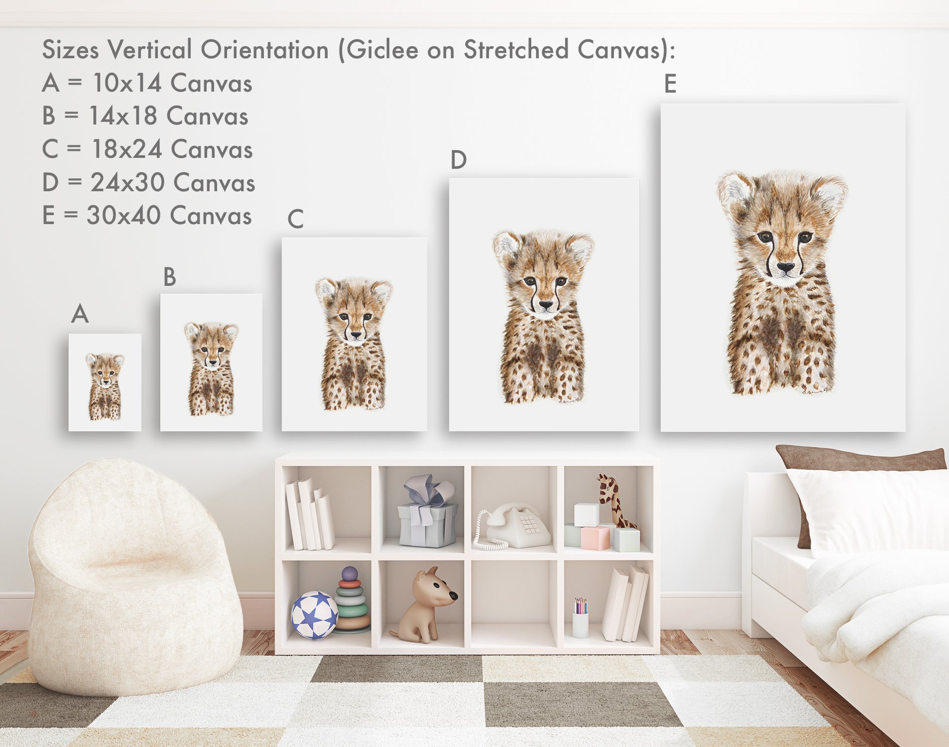 Vertical Gallery Wrapped Canvas Sizes