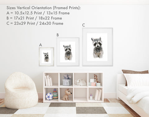 Framed Print Sizes - Vertical Orientation