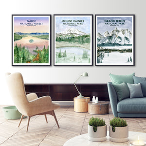National Park Poster Set