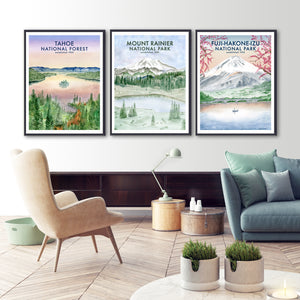 Mountain and Hiking Poster Set