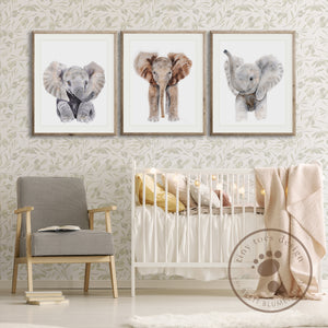 Elephant Nursery Print Set