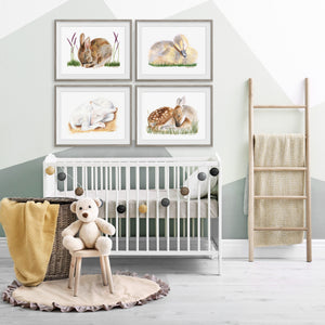 Sleeping Farm Animal Nursery Decor