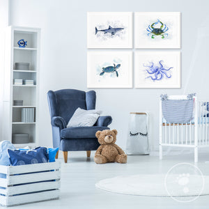 Ocean Animal Nursery Decor