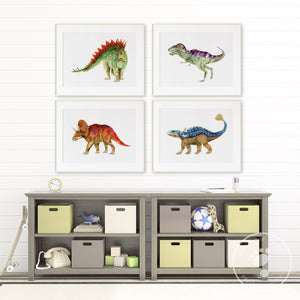 Dinosaur Kid's Room Print Set