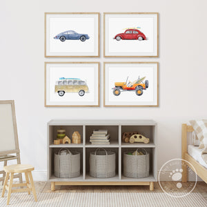 Vintage Car Playroom Decor