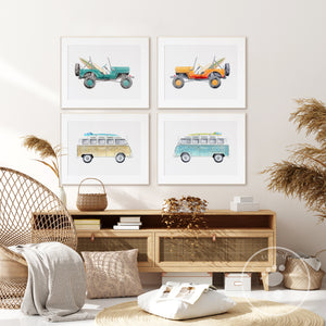 Beach and Surf Vehicle Home Decor